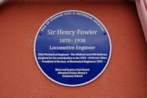 Photographs of the Sir Henry Fowler Plaque Unveiling